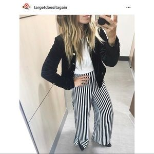 Who What Wear Striped Wide Pants